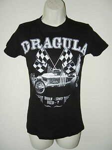New-Gothic-Rock-Rebel-Herman-Munsters-Coffin-Hot-Rod-Dragula-Girly-Black-T-Shirt