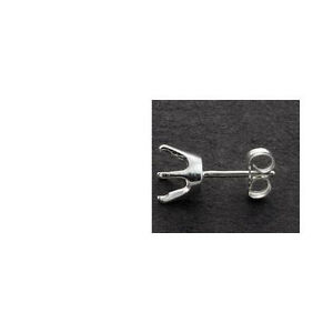 One-3mm-8mm-Round-6-Prong-Solid-Sterling-Earring-Setting