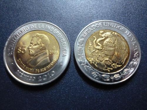 Carlos María de Bustamante BIMETALLIC COIN 5 Pesos KM896 UNC 2008 MEXICO COMM