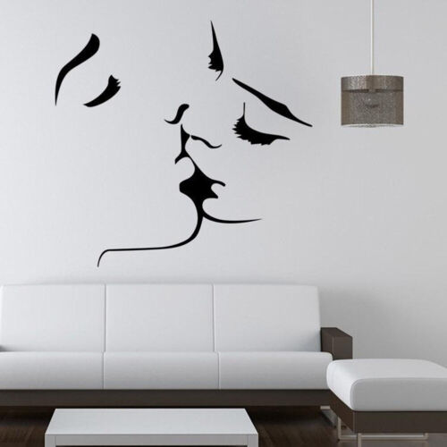 Kiss Lover Wall Sticker Romantic Removable Decal Bedroom Living Room Decor Sanwo