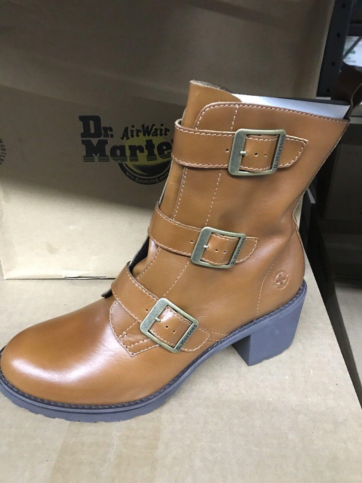 Dr martens air wair Aletta Tan Damens 11 buckle boots