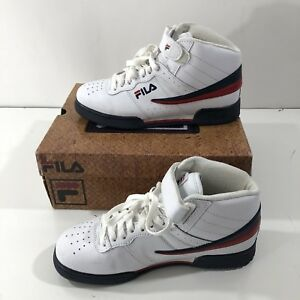 ef9a420f75e1 FILA F-13V LEA SYN Men s Athletic shoes White Navy Red Leather SIZE ...