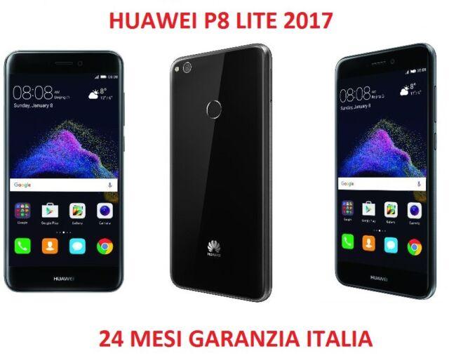 HUAWEI P8 LITE 2017 BLACK NERO 3GB RAM 16GB 4G 5.2 12MPX NFC ITALIA BRAND 4G LTE
