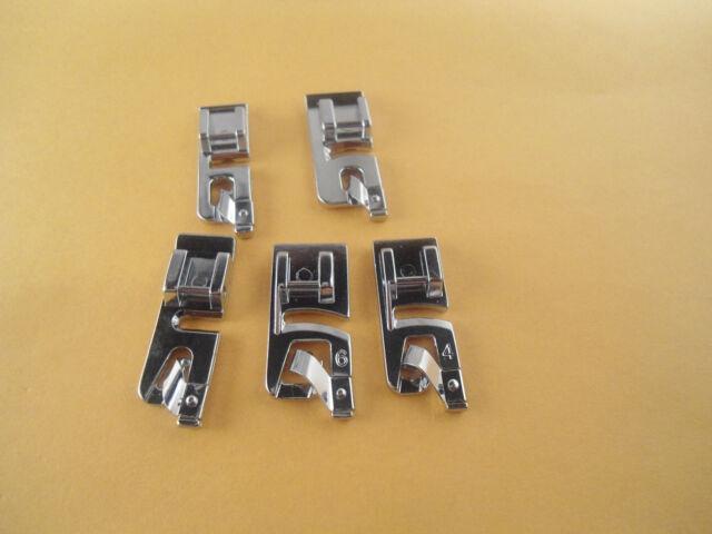 Juki DDL-5550,DDL-8700,DDL-8500,555 Narrow,Rolled,3mm,4mm,6mm Hemmer foot SET