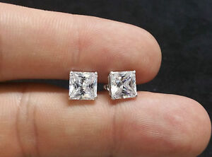 Image Is Loading 3ct Lab Created Diamond Earrings 14k White Gold