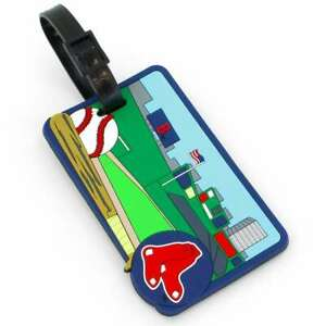 One Size aminco Sox Logo Luggage Tag Red Navy