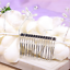Bridal-White-Silk-Flowers-Pearl-Hair-Clip-Comb-Hair-Band-Wedding-Hair-Accessory miniature 3