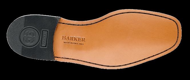 BARKER NEUBURY LACE UP BIG BLACK SHOE IN BLACK BIG 6288a8