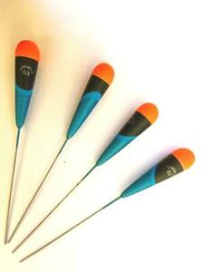 """The Kingfisher /""""Dibber/"""" Pack of 4 HIGH QUALITY ROHACELL POLE FISHING FLOATS"""