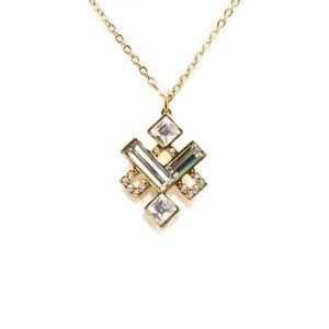 Swarovski crystal te eloquent gold pendant necklace 129 5186447 image is loading swarovski crystal te eloquent gold pendant necklace 129 aloadofball Image collections