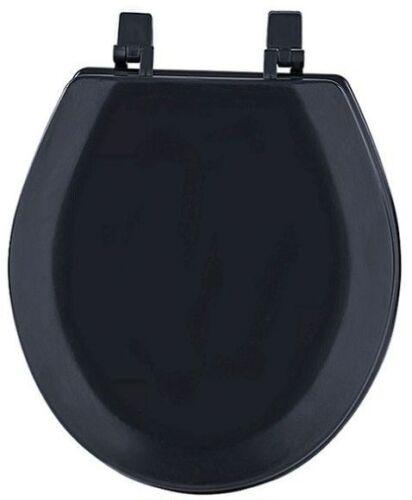 HARD WOOD STANDARD ROUND TOILET SEAT BLACK