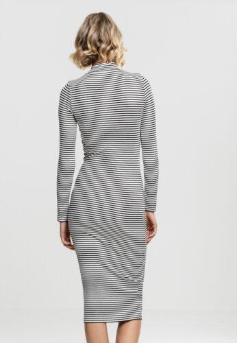 Lungo Dress Striped Turtleneck Ladies Tb1709 Abito Classics Vestito Donna Urban wxUafHqw