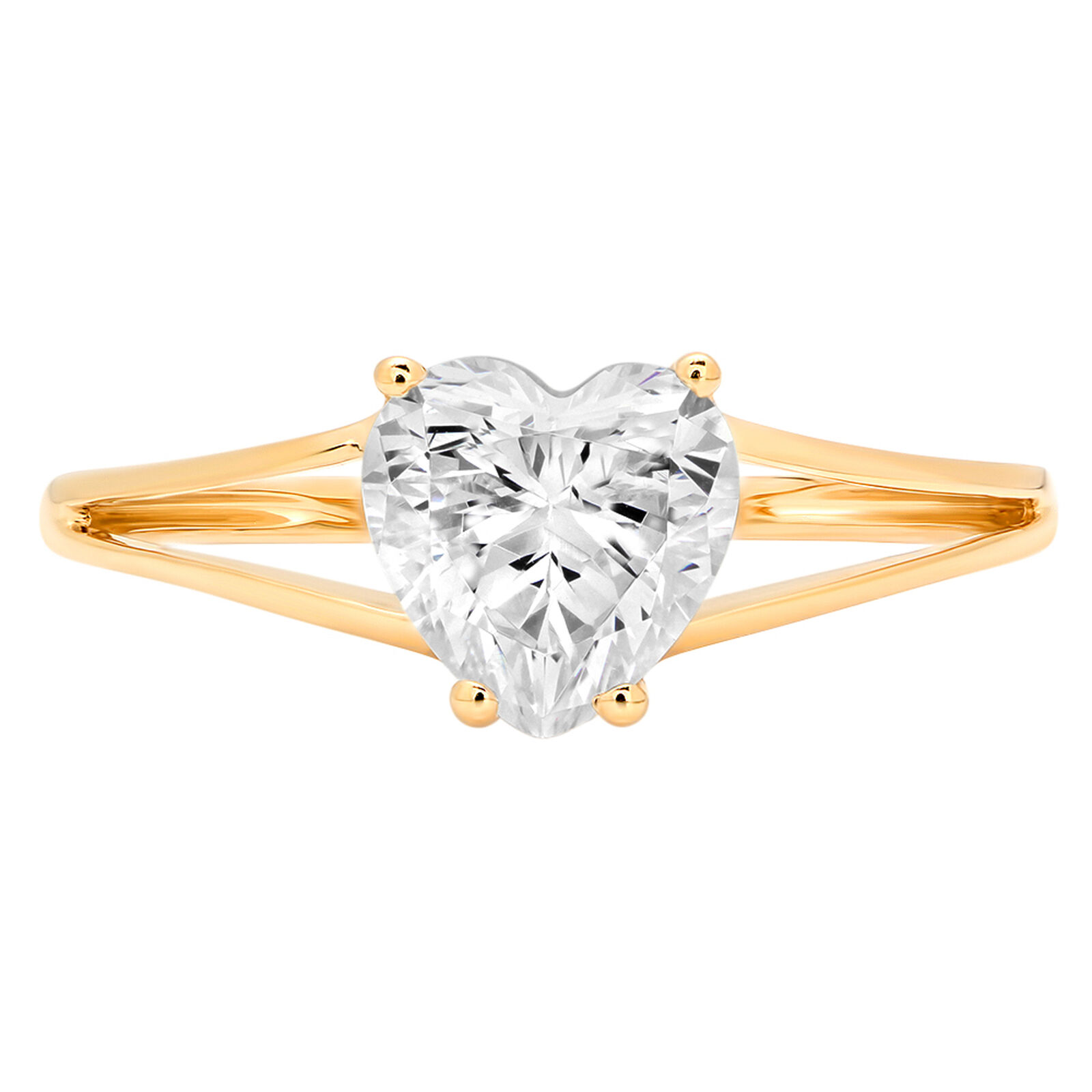 1.6ct Heart Cut Anniversary Engagement Bridal Solitaire Ring 14k Yellow gold