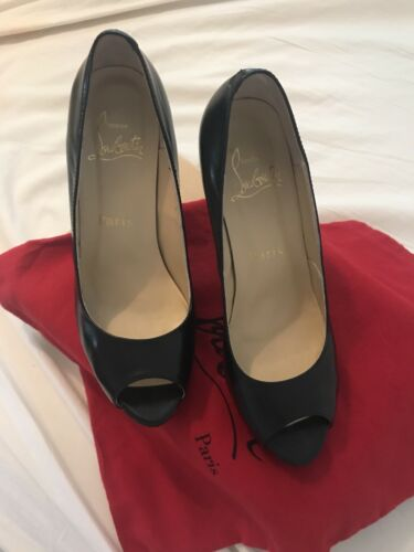 Black Peep Toe Shoes Size 5