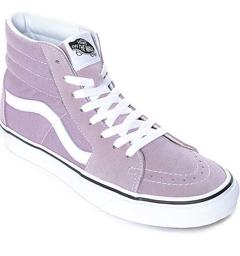 NEW NEW NEW WOMEN'S 10 VANS SK8-HI SEA FOG PURPLE SKATE Schuhe a7b4c2