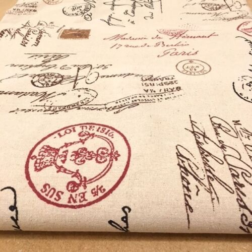 Lino Natural Tarjeta Post-tela de algodón precio por 1//2 metros