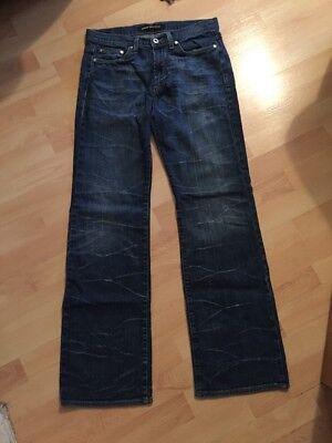 100% Autentico Da Uomo Versace Effetto Invecchiato Blu Jeans Gamba Dritta Girovita 32 Lunghezza 30-mostra Il Titolo Originale