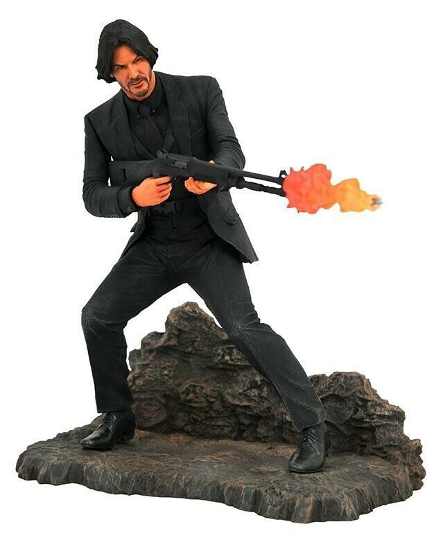 John Wick Gallery Catacombs Statue PVC avec Diorama By Diamond Select Toys