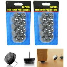 Nail-on 32 pc Furniture Table Chair Leg Felt Floor Protectors Felt Pad Slide