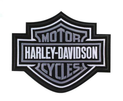 Harley Davidson Aufnäher//Patch Modell B/&S silber Größe ca 23,5 x 19,5 cm