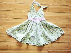Icky-Baby-Toddler-Boutique-Dress-Summer-Green-Asian-Print-Size-2T-Cotton