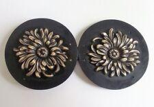 Boucle de ceinture vintage 70 ' fleurs chrysanthème  -  13504