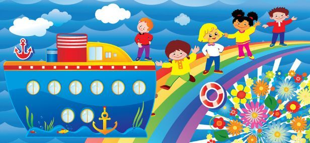 3D Cartoon-Themenpark 255 Fototapeten Wandbild Fototapete BildTapete Familie