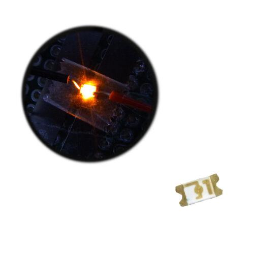 50 X 1206 Superhelle Led SMD Smt Glühbirne Licht Chips Helligkeit Rohs Bernstein