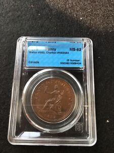 1813-Can-Token-NS-20A4-Breton-962-CCCS-Graded-MS-62-One-Penny-Token