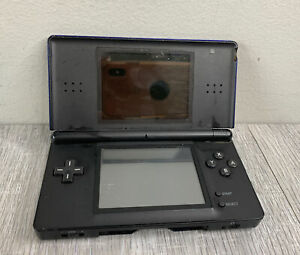 Nintendo-DS-Lite-Blue-Black-Handheld-Console-Non-Working-For-Parts-AS-IS