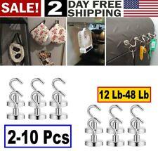 20X Dia Strong Magnetic Hook Hanger Neodymium Clamping Magnet Hooks 10x16mm