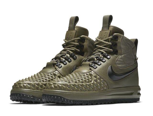 Nike Lunar Air Force 1 Duckboot Olive Green Lf1 Mens Size 11 916682 202