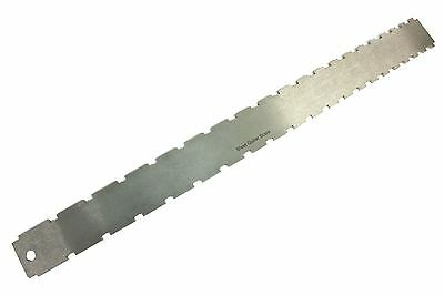 Guitar Neck Notched Straight Edge Steel 2 scale length for Fender and Gibson