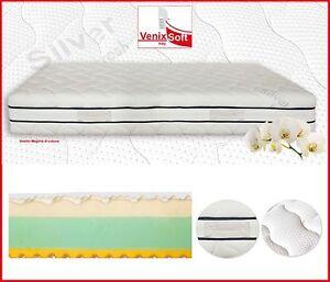 Materasso Memory Foam Matrimoniale 120X200 rivestimento Silver Fresh