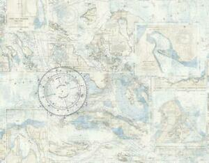 Wallpaper Designer Nautical Nantucket Map