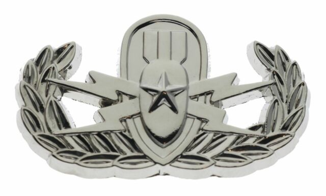 EOD Basic Lapel Pin in Antique Silver