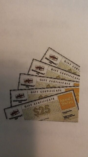 (1) $50 Restaurant.com (Nationwide) Gift Certificates (Free Shipping)See Details