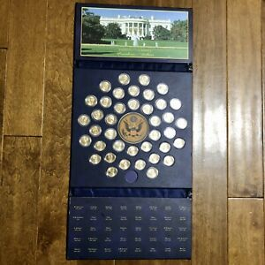UNITED STATES OF AMERICA PRESIDENTIAL DOLLARS FOLDER - 39 $1 Coins Included