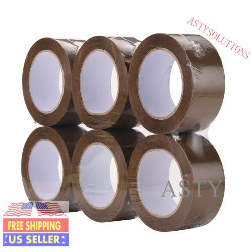 "330/'ft 6 Rolls 2/""x110 Yards Box Brown Carton Sealing Packing Package Tape 2Mil"