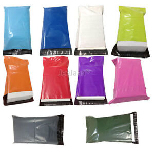 Coloured-Polythene-Plastic-Mailing-Postal-Packaging-Bags-mix-Self-Seal-Strip
