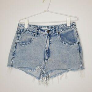 Wrangler-Women-039-s-Hi-Ryder-Cut-Off-High-Waist-Denim-Shorts-Size-12