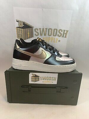 Nike Air Force One 1 LV8 GS Metallic Cool Grey Gold Size 6Y New