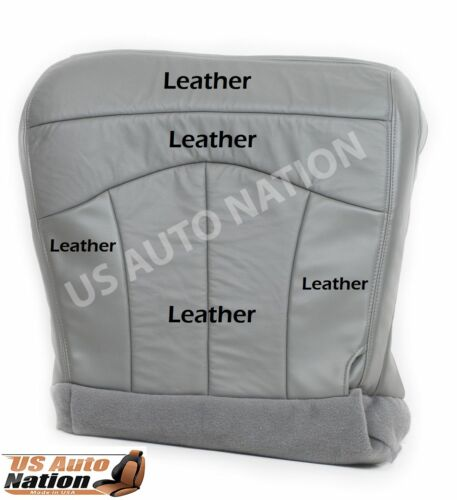 2001 2002 2003 Ford F150 Lariat  Driver Bottom Leather Seat Cover Gray