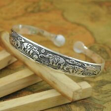 Tibetan Silver Elephant Bracelet/Bangle/buddhist/prayer/hinduism/gift/Chakra