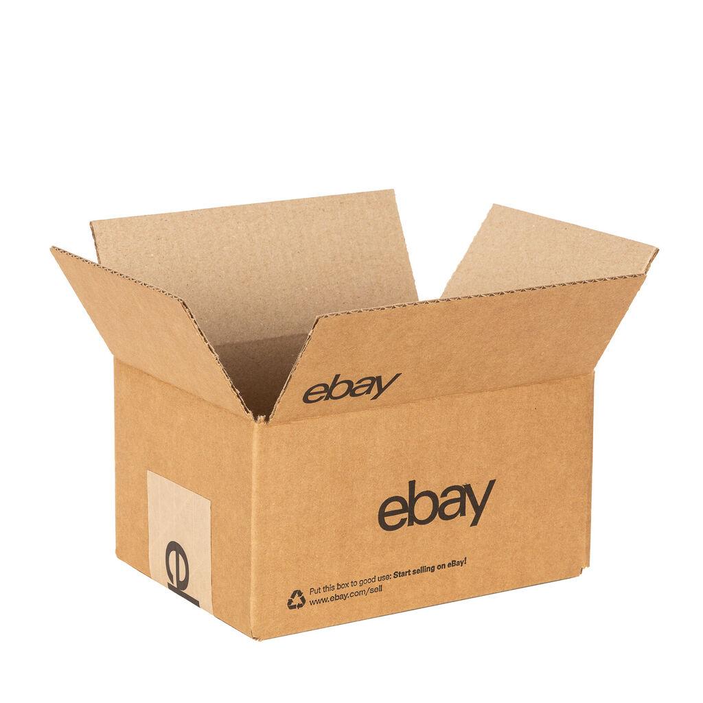 """EBay-Branded Boxes With Black Color Logo 8"""" x 6"""" x 4""""    eBay"""