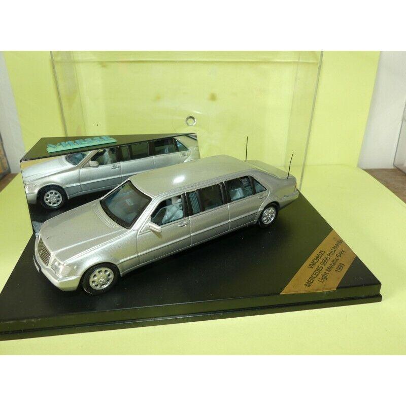 Mercedes s 600 Delux 1999 gris Limousine vitesse vmc99025 1 43