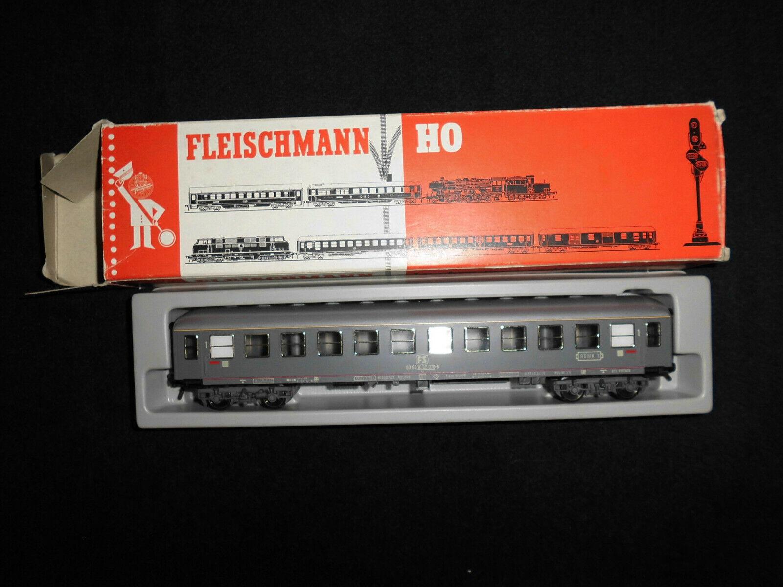 Fleischmann H0 - Personenwagen 4 Achsen FS grau - 1^ KL - Box Fleischmann andere  | ein guter Ruf in der Welt