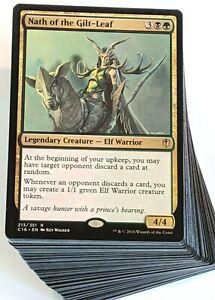 Custom-Commander-Deck-Nath-of-the-Gilt-Leaf-Elf-Tribal-EDH-Magic-Cards