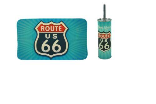 Bad-Set 2-teilig Route 66 Badematte mit WC-Bürste Badgarnitur