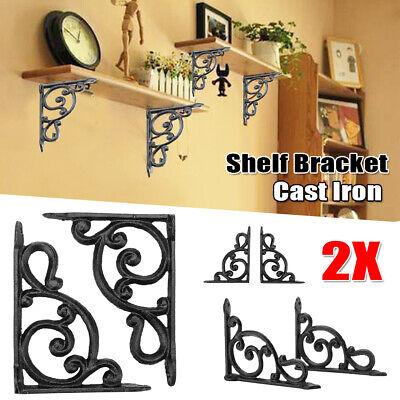 2 cast iron Antique Style BAR BROWN Shelf Brackets